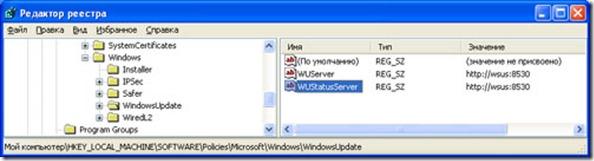 WSUS12 thumb Настройка автоматических обновлений через WSUS на локальном компьютере