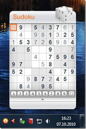 gadget sudoku thumb Sudoku на рабочем столе Windows 7