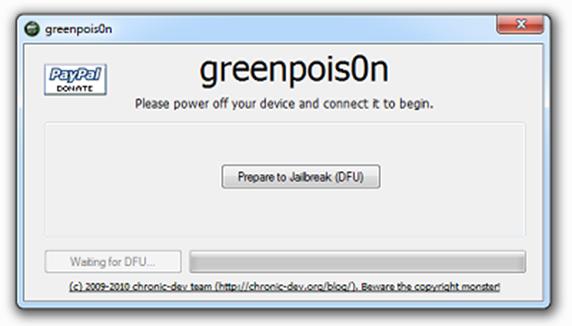 greenpois0n thumb Вышел еще один Jailbreak для iPhone 4.1/iPad3.2.2–GreenPois0n