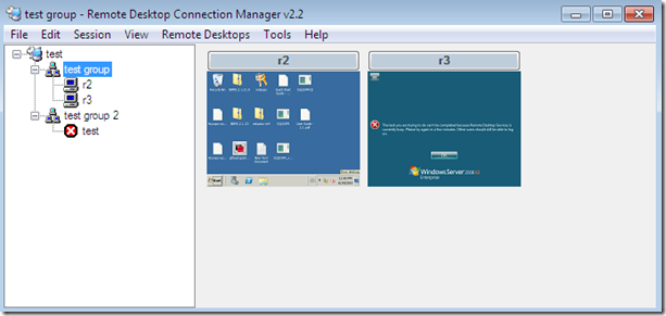 Remote Desktop Connection Manager Group thumb Remote Desktop Connection Manager   управлением множеством RDP соединений