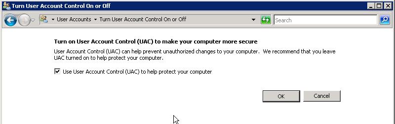 Как отключить windows uac