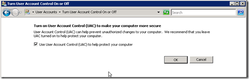 uac disable1 thumb Как отключить UAC в Windows Server 2008