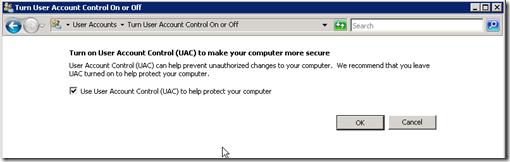 uac disable1 thumb Как отключить UAC в Windows Server 2008