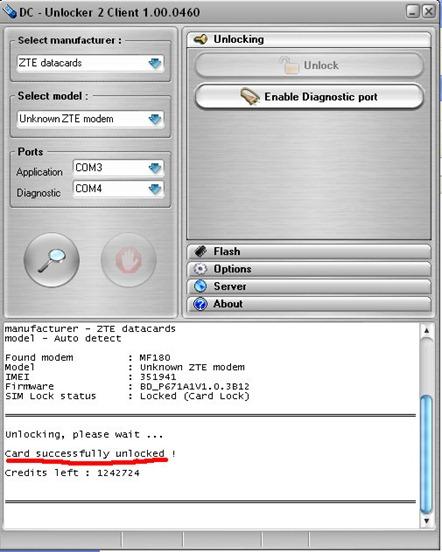 dcunlocker3 thumb Разблокировка 3G модема ZTE MF 180 от МТС