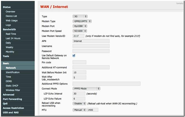 dir 320 network thumb D Link DIR 320 прошивка для 3G модемов ZTE MF180 и Huawei E156G