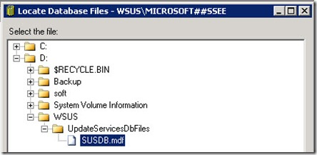 sql wsus 5 thumb Перенос базы и каталога WSUS на другой диск Windows Server 2008