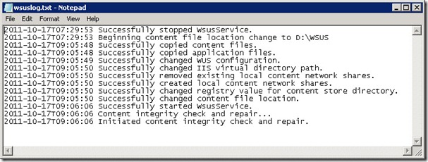 wsusutil 3 thumb Перенос базы и каталога WSUS на другой диск Windows Server 2008