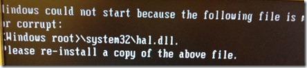 hal.dll error xp thumb hal.dll поврежден или отсутствует, Windows XP не грузится