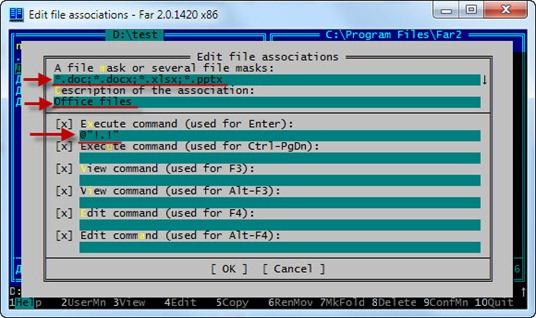 far office 5 thumb Как открывать файлы *.docx и *.xlsx в Far Manager