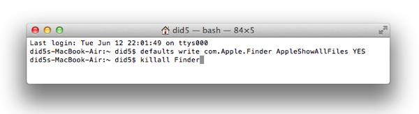show invisible files Как включить отображение скрытых файлов в Finder в Mac OS