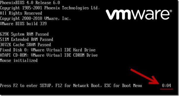bios vmware 1 thumb А ты успеваешь войти в BIOS виртуальной машины VMWare?