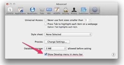 develop menu safari 12 Как активировать меню разработчика в Safari