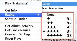 itunes rating 3 Проставляем рейтинг треков в iTunes с клавиатуры