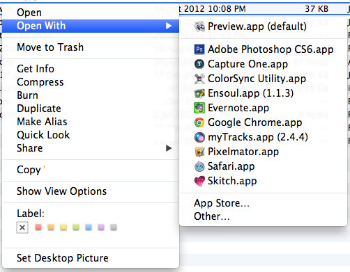 edit open with list macos 3 В меню Open With программы перечислены по несколько раз (OS X Mountain Lion)