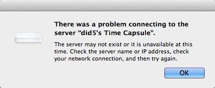timecapsule problem connecting Не подключиться к Time Capsule