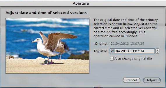 Screen Shot 2013 05 26 at 22.22.30 Как изменить дату создания фотографии в Aperture 3