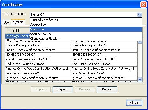 java certificates 1 thumb Установка и настройка Java с помощью групповых политик