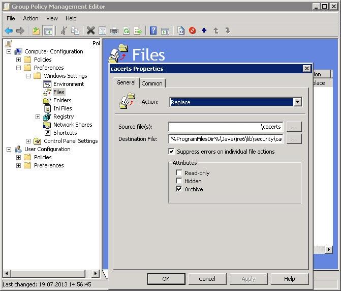 java certificates 3 thumb Установка и настройка Java с помощью групповых политик