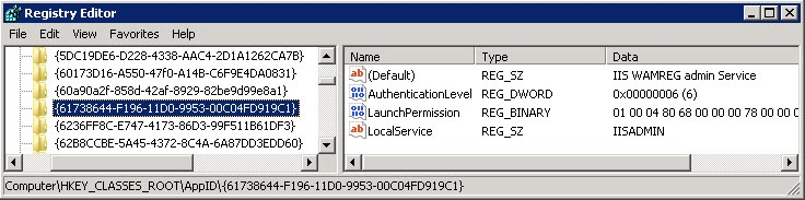 event 10016 2 thumb The application specific permission settings do not grant Local Activation permission for the COM Server application with CLSID {61738644 F196 11D0 9953 00C04FD919C1}