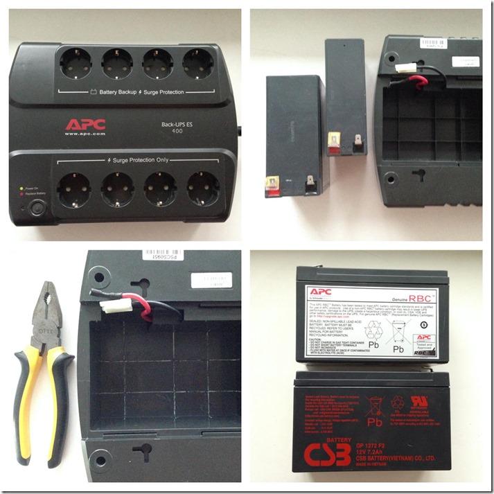 change battery in APC UPS thumb Заменил аккумуляторы в бесперебойниках APC на аналог