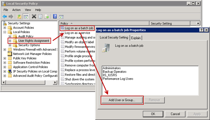 task scheduler 2 thumb1 This task requires that the user account specified has log on as batch job rights