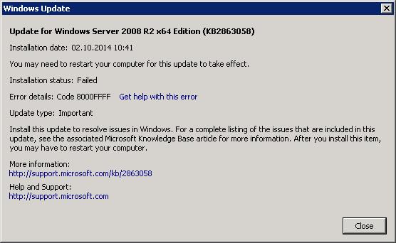 error 8000ffff thumb Ошибка 8000FFFF при установке обновлений Windows