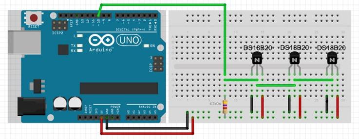 arduino ds18b20 3 thumb [Arduino] Несколько датчиков температуры DS18B20