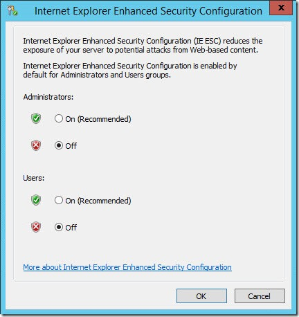 disable IEESC 2012 3 thumb Как отключить IE Enhanced Security Configuration в Windows Server 2012
