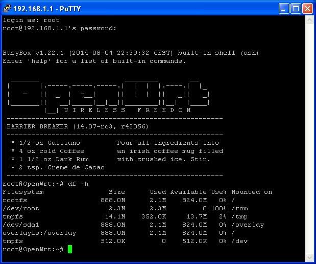 openwrt 14.07 2 thumb Установка OpenWrt 14.07 на TP LINK MR3020 и подключение флешки