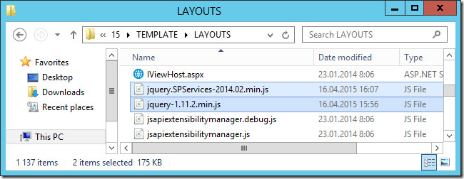 jquery sharepoint 1 thumb Как подключить jQuery и SPServices в SharePoint 2013