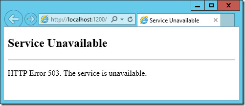 sharepoint http 503 1 thumb [SharePoint] Service Unavailable   HTTP Error 503