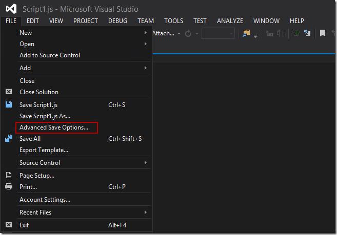 visualstudio coding 1 thumb Как изменить кодировку файла в Visual Studio 2013