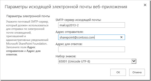 email relay smtp sharepoint2013 11 thumb Отправка почты SharePoint 2013 с авторизацей на SMTP сервере