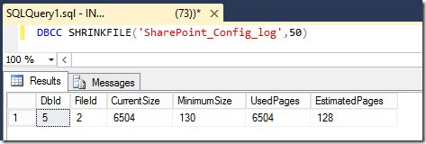sharepoint reduce sql db log size 10 thumb Как уменьшить размер лог файла базы данных SharePoint 2013