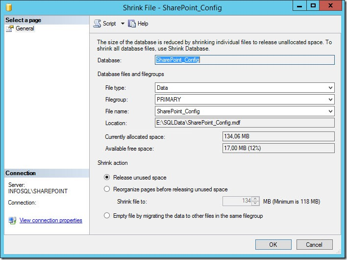 sharepoint reduce sql db log size 4 thumb Как уменьшить размер лог файла базы данных SharePoint 2013