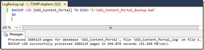 sharepoint reduce sql db log size 7 thumb Как уменьшить размер лог файла базы данных SharePoint 2013