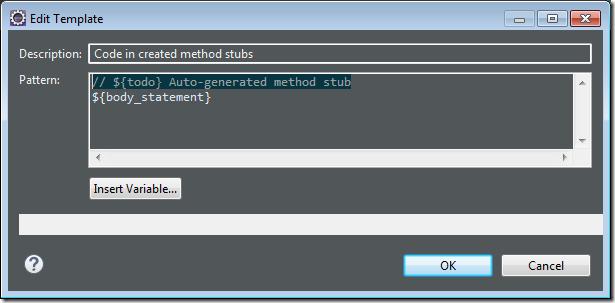 eclipse disable autogenerate comment 2 thumb Как отключить автогенерацию комментария при создании класса в Eclipse