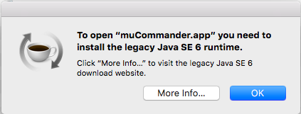 java 6 macos mucommander 1 Java 6 на Mac OS X El Capitan