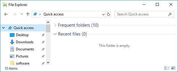 clear recent files explorer windows 10 4 thumb Как очистить список последних файлов в Windows 10