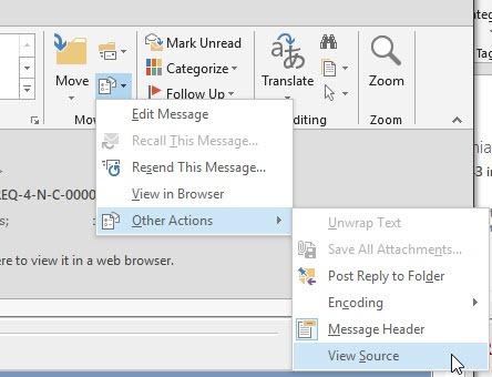 outlook view source 1 thumb Исходный код письма в Outlook