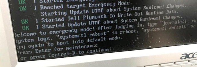 ubuntu emergency mode 01 thumb1 Ubuntu 16.04. Welcome to emergency mode